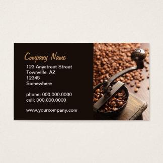 旧式なコーヒー豆挽器 名刺