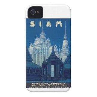 旧式なシャムバンコクの寺院旅行ポスター Case-Mate iPhone 4 ケース