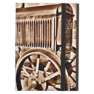 旧式なトラクターの農機具の古典のセピア色 iPad AIRケース