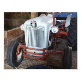旧式なトラクター フォトプリント