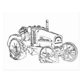 旧式なトラクター ポストカード