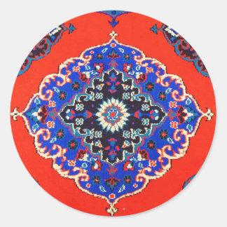 旧式なトルコの織物のカーペットの敷物Kilims ラウンドシール