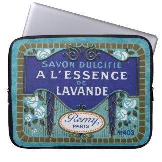 旧式なフランスのなラベンダーの石鹸 ラップトップスリーブ