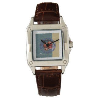 旧式なプレートのザクロのファインアート 腕時計