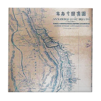 旧式なベトナムの地図 タイル