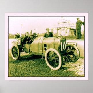 旧式なレースカーのn° 16 Indy 500の2人 ポスター