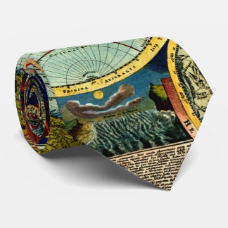 旧式な世界の地球の地図のヴィンテージの美術史 ネックウェアー