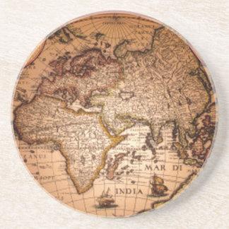旧式な世界地図のクラシックな地球のギフトのコースター コースター
