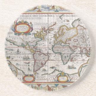 旧式な世界地図のコースター コースター