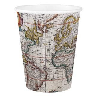旧式な世界地図の紙コップ 紙コップ