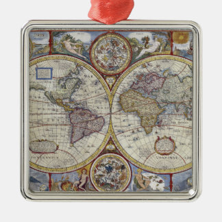 旧式な世界地図動揺してな#3 メタルオーナメント