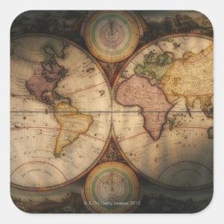 旧式な世界地図2 スクエアシール