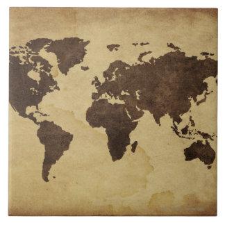 旧式な世界地図3の閉めて下さい タイル