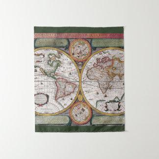 旧式な世界地図|のタペストリー タペストリー