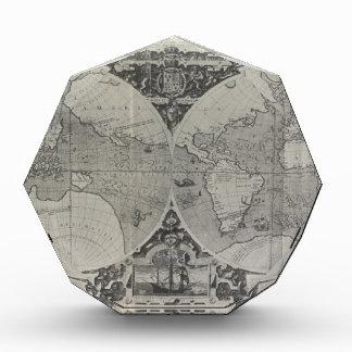 旧式な世界地図-アジアの古い地図 表彰盾