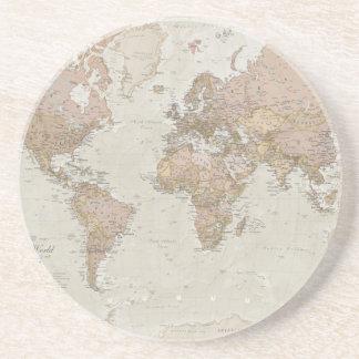 旧式な世界地図 コースター