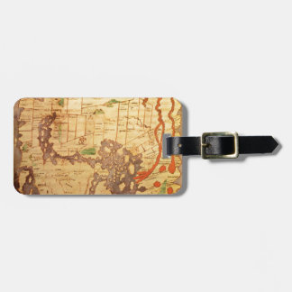 旧式な世界地図 ラゲッジタグ