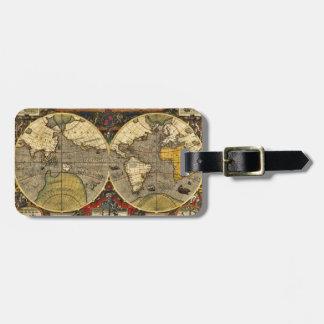 旧式な世界地図#2 ラゲッジタグ