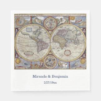 旧式な世界地図#3 スタンダードランチョンナプキン
