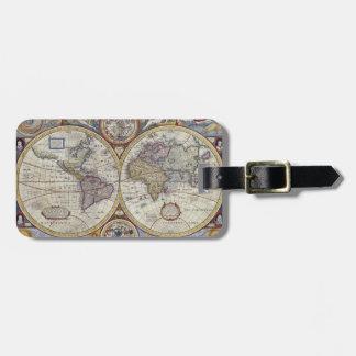 旧式な世界地図#3 ラゲッジタグ