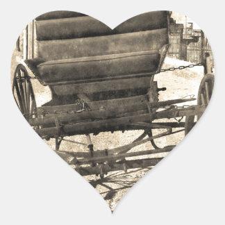 旧式な乳母車 ハートシール