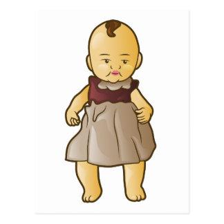 旧式な人形 ポストカード