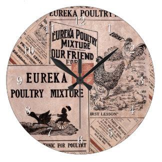 旧式な供給の小さなかん ラージ壁時計