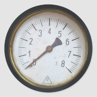 旧式な円形圧力メートルのゲージのダイヤルのステッカー ラウンドシール