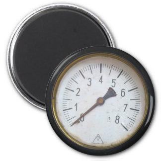 旧式な円形圧力メートルのゲージの冷蔵庫用マグネット マグネット