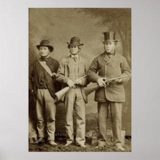 旧式な写真-狩りのパーティー ポスター