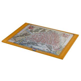 旧式な地図アムステルダム カッティングボード