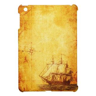 旧式な地図及び船 iPad MINIケース