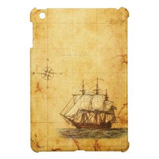 旧式な地図及び船 iPad MINI カバー