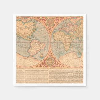 旧式な地図- Orbisの大地Compendiosa Descritio スタンダードカクテルナプキン