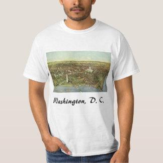 旧式な地図、Washington D.C.の全景 Tシャツ