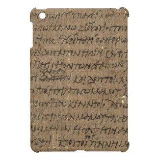 旧式な執筆の羊皮紙の文字、古い紙 iPad MINIカバー
