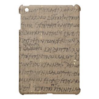 旧式な執筆の羊皮紙の文字、古い紙 iPad MINI カバー