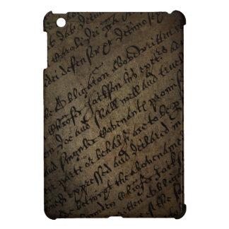 旧式な執筆の羊皮紙の文字、古い紙 iPad MINI CASE