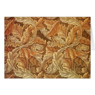旧式な壁紙の葉- Acanthus カード