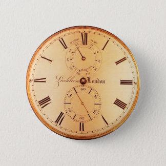 旧式な壊中時計 5.7CM 丸型バッジ