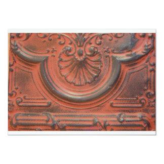 旧式な天井のタイルの招待状 カード