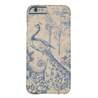 旧式な孔雀Toile Barely There iPhone 6 ケース