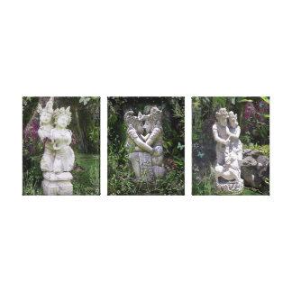 旧式な恋人の彫像の三部作 キャンバスプリント