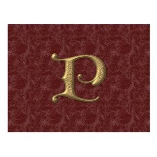 旧式な手紙P (2) ポストカード