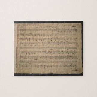 旧式な楽譜、老人の歌、1822年 ジグソーパズル