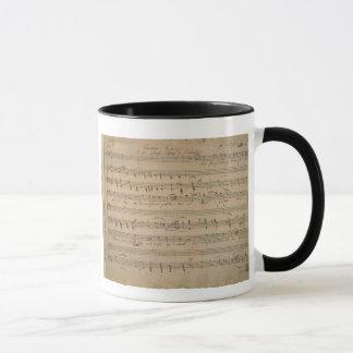 旧式な楽譜、老人の歌、1822年 マグカップ