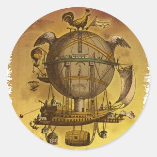 旧式な気球 ラウンドシール