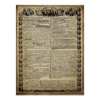旧式な独立宣言 ポスター