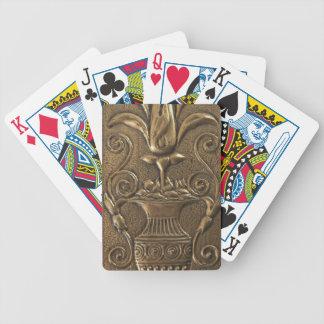 旧式な真鍮のポーカーカード バイスクルトランプ