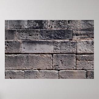 旧式な石塀、Phaistos、クレタ、ギリシャ ポスター
